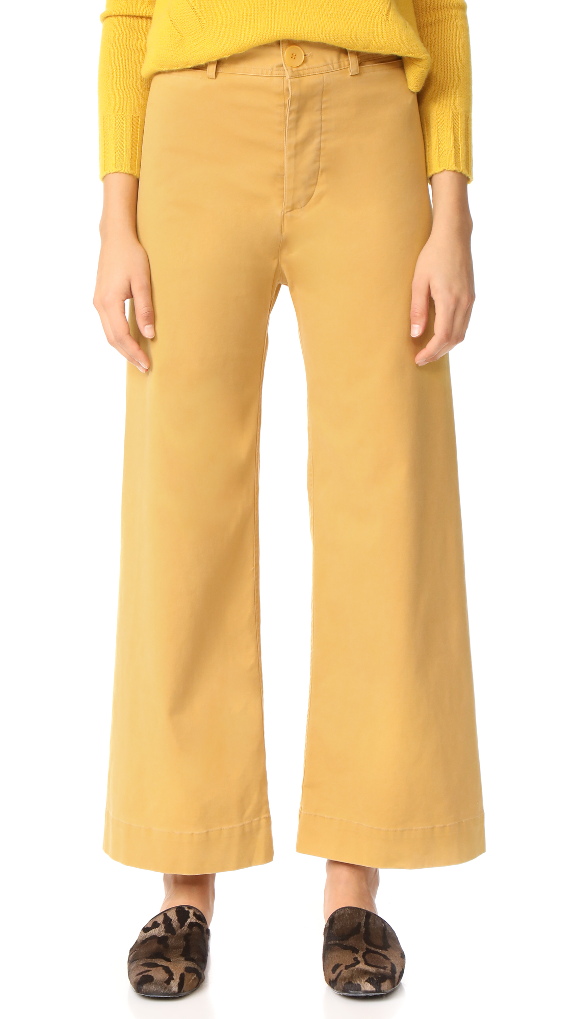 Emerson Thorpe Ryan High Waisted Pants - Mustard