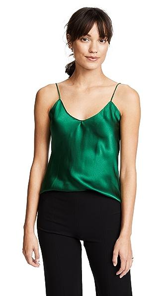 Emerson Thorpe Fiora Silk Cami Top In Emerald