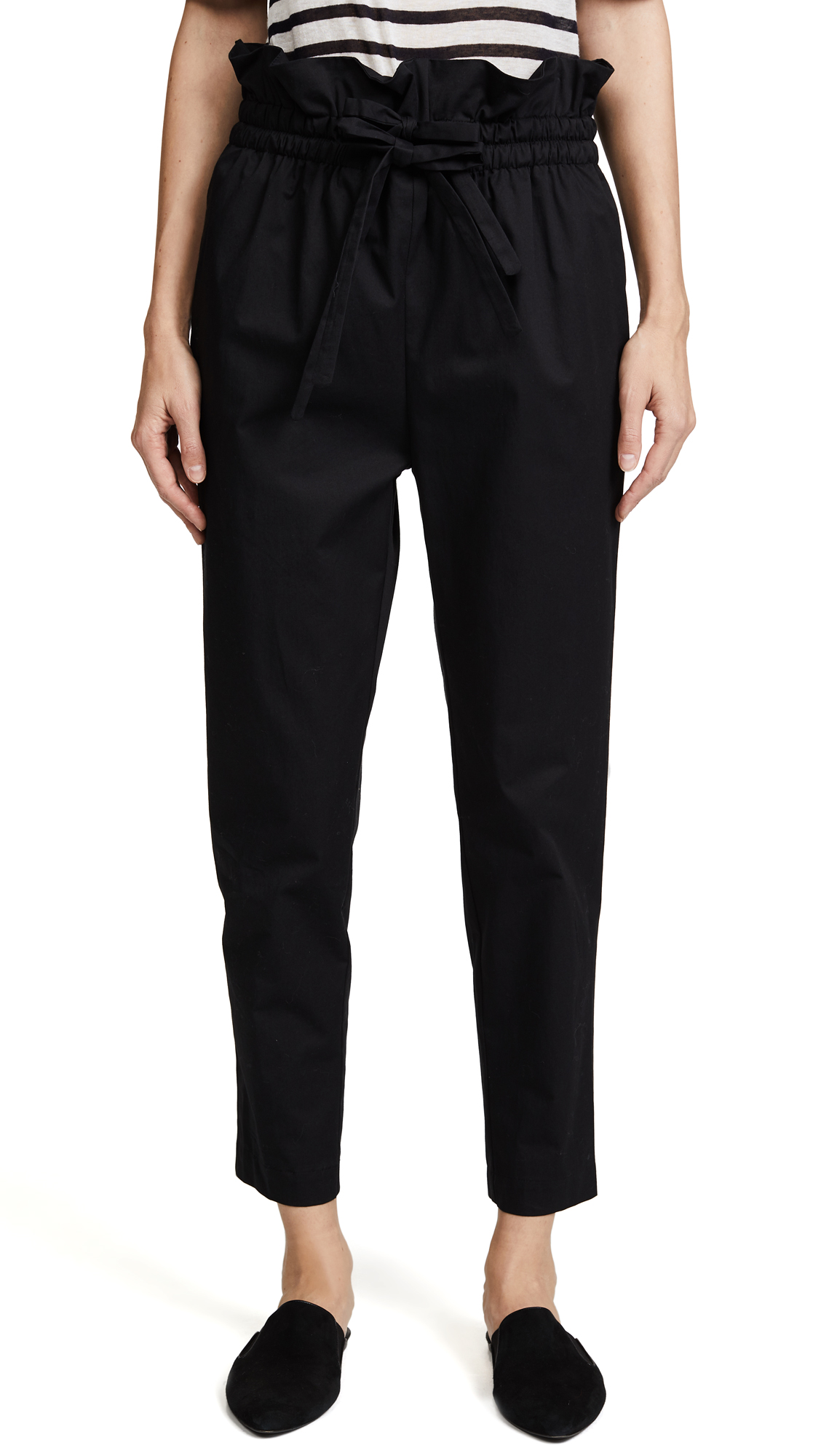 Emerson Thorpe Heidi Paper Bag Pants - Black