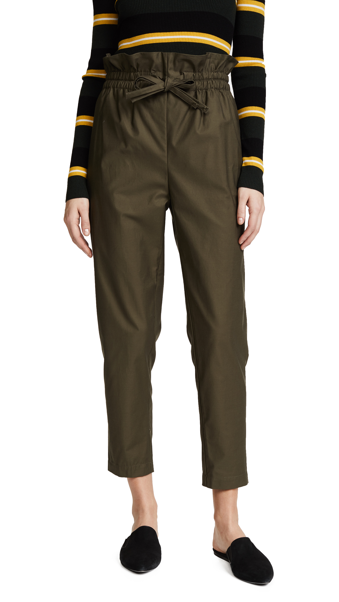 Emerson Thorpe Heidi Paper Bag Pants - Army