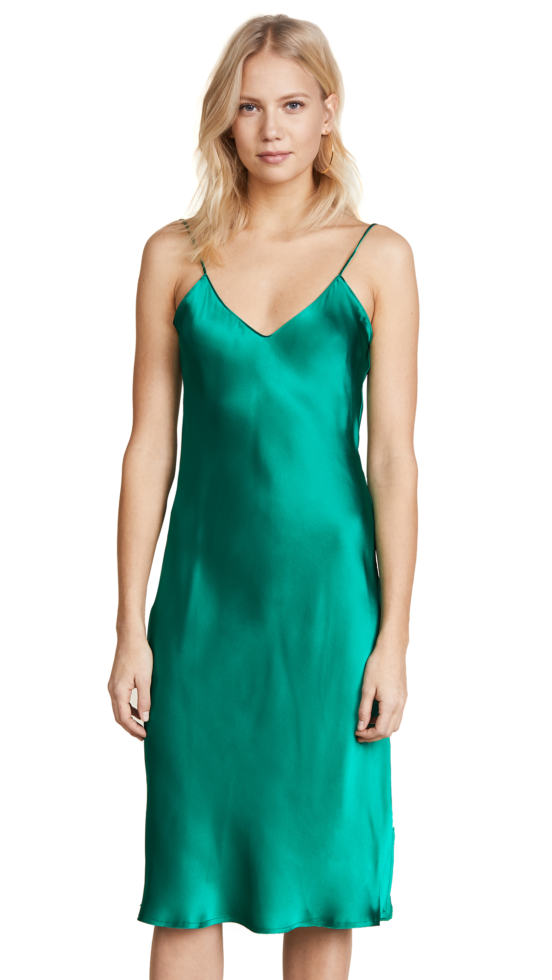 Emerson Thorpe Hallie Slip Dress - Emerald