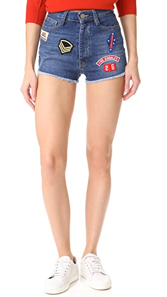 Etienne Marcel High Rise Destroyed Shorts