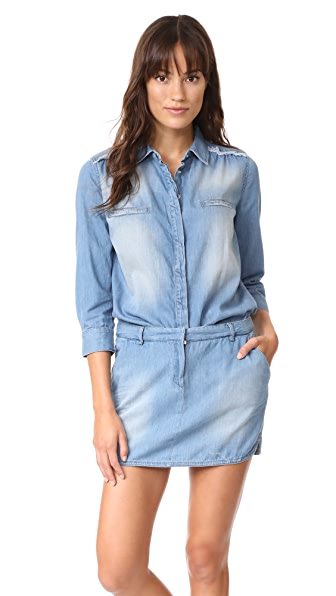 Etienne Marcel Jackie Denim Mini Dress - Blue