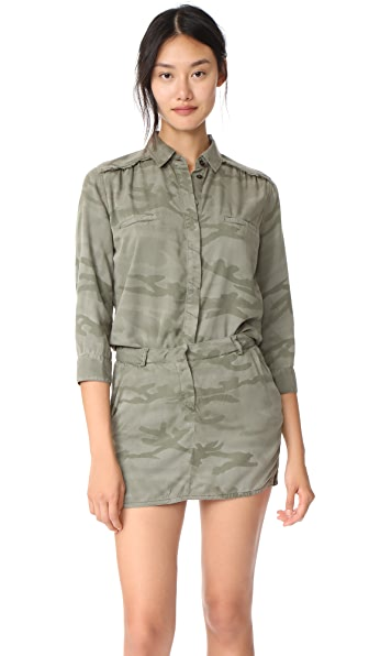 Etienne Marcel Jackie Camo Jumpsuit Dress In Camo