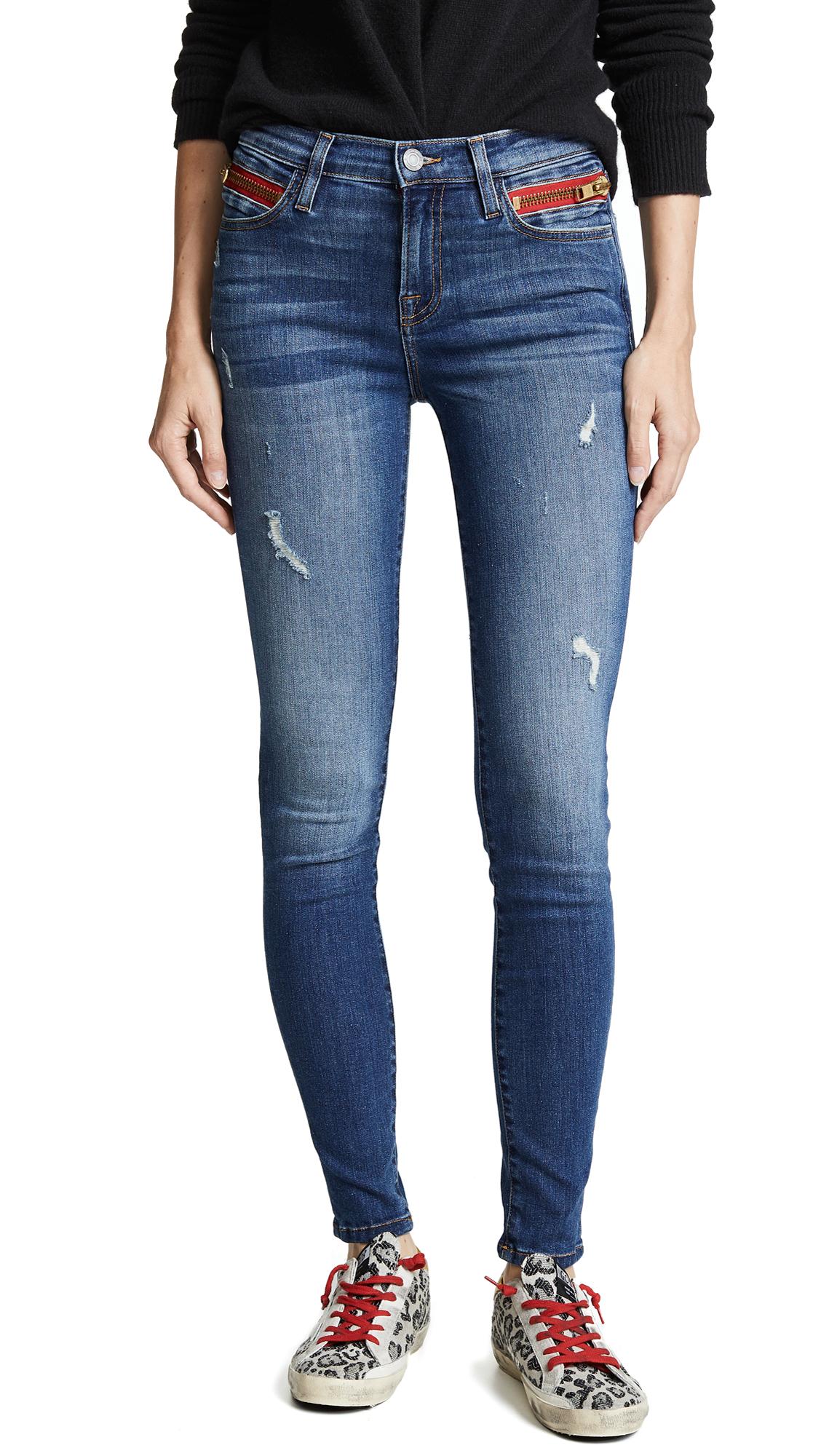 Etienne Marcel Highrise Cropped Skinny Jeans In Indigo