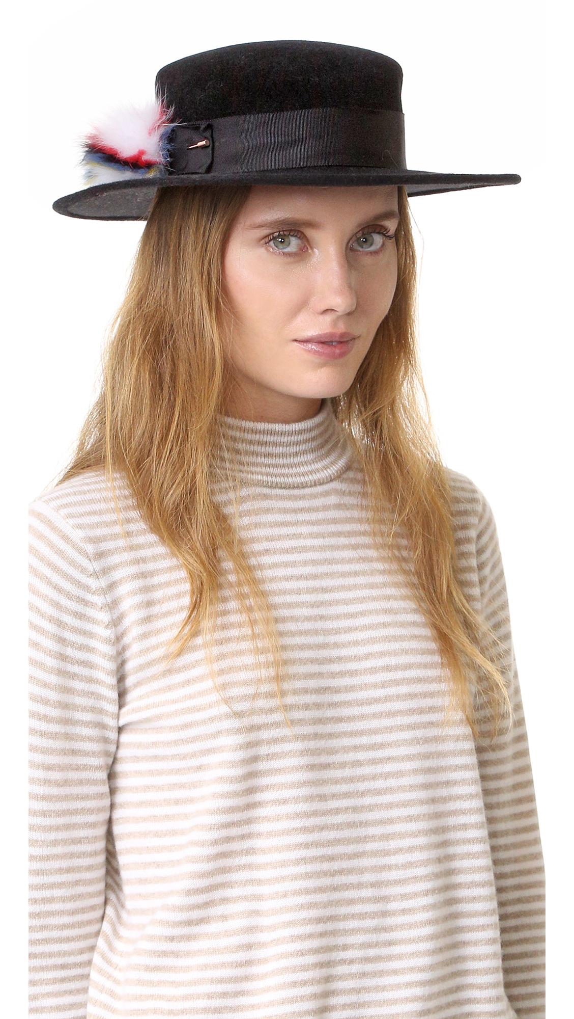 Eugenia Kim Brigitte Brim Hat - Black at Shopbop