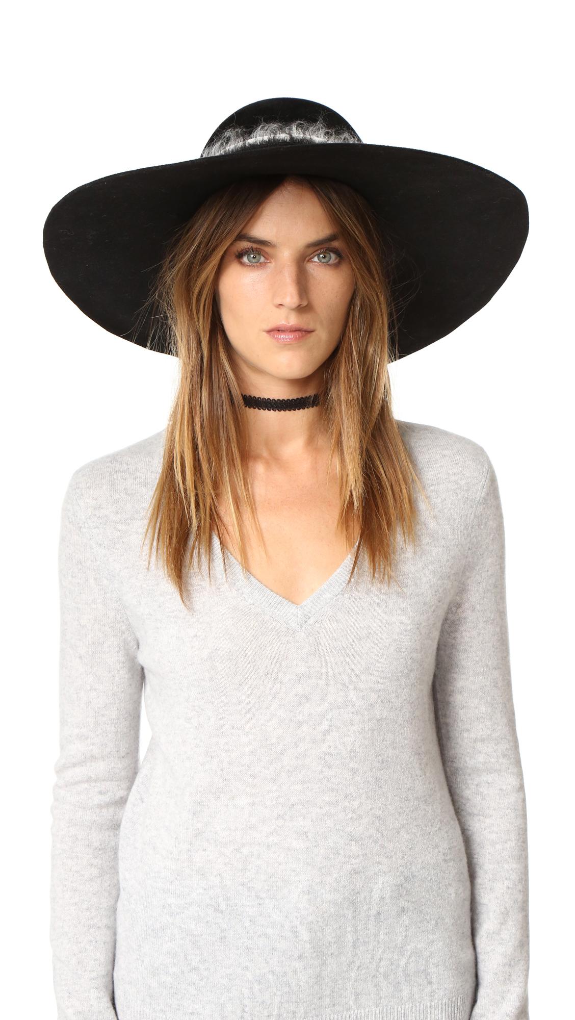 Eugenia Kim Honey Wide Brim Hat - Black at Shopbop