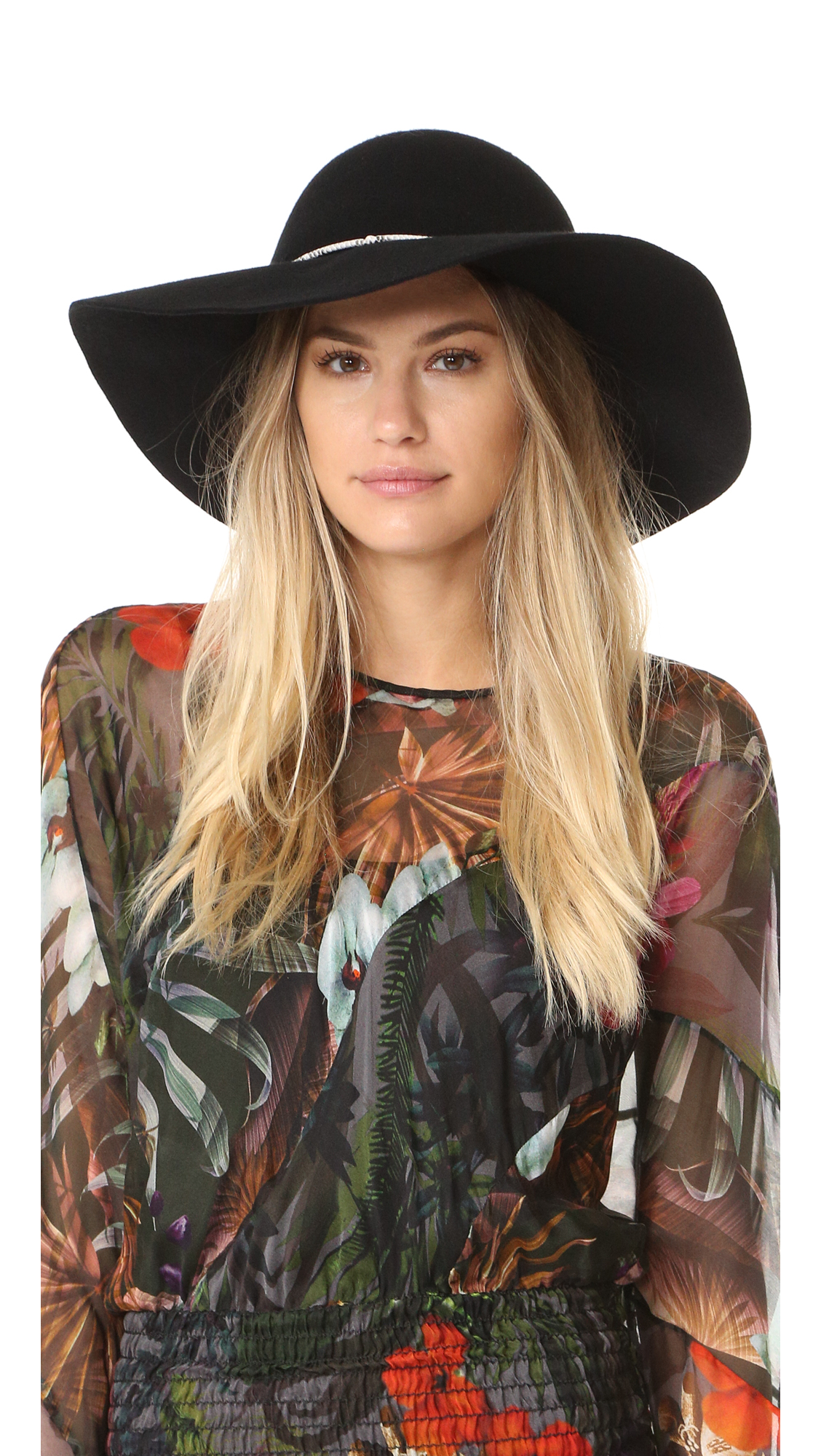 Eugenia Kim Genie Lana Brim Hat - Black at Shopbop
