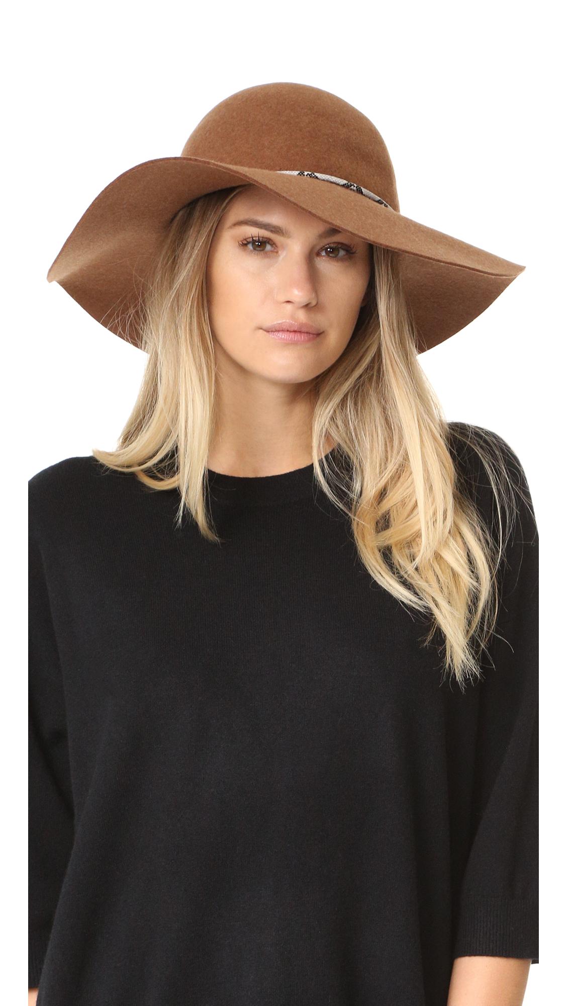 Eugenia Kim Genie Lana Brim Hat - Fawn at Shopbop