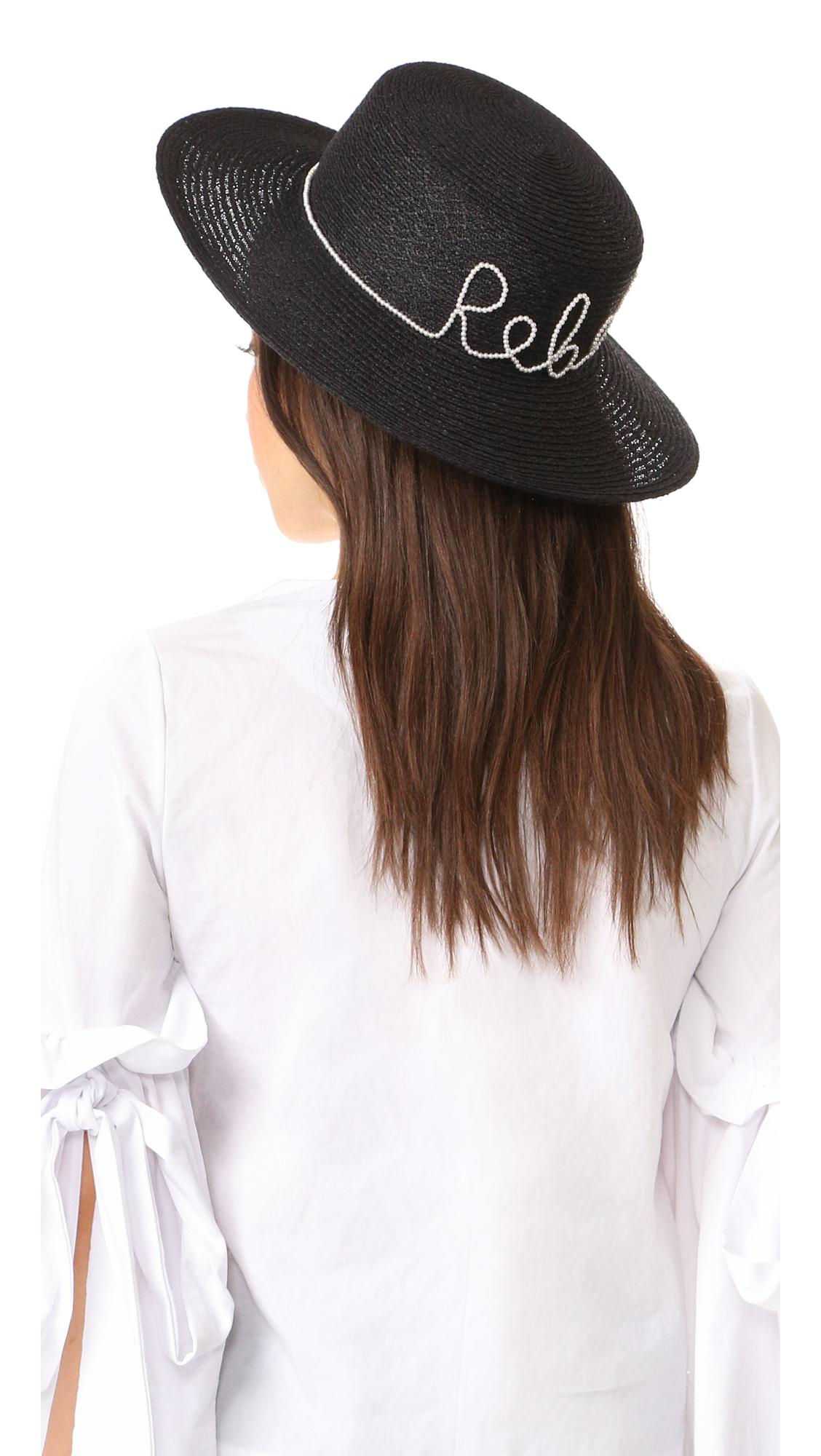 Eugenia Kim Colette Rebel Hat - Black at Shopbop