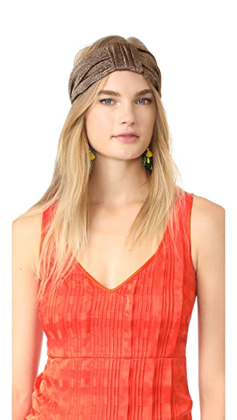 Eugenia Kim Natalia Turban Headband - Gold