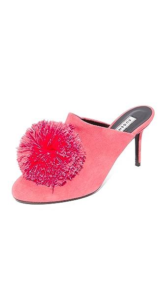 Eugenia Kim Violet Pom Pom Pumps In Shocking Pink