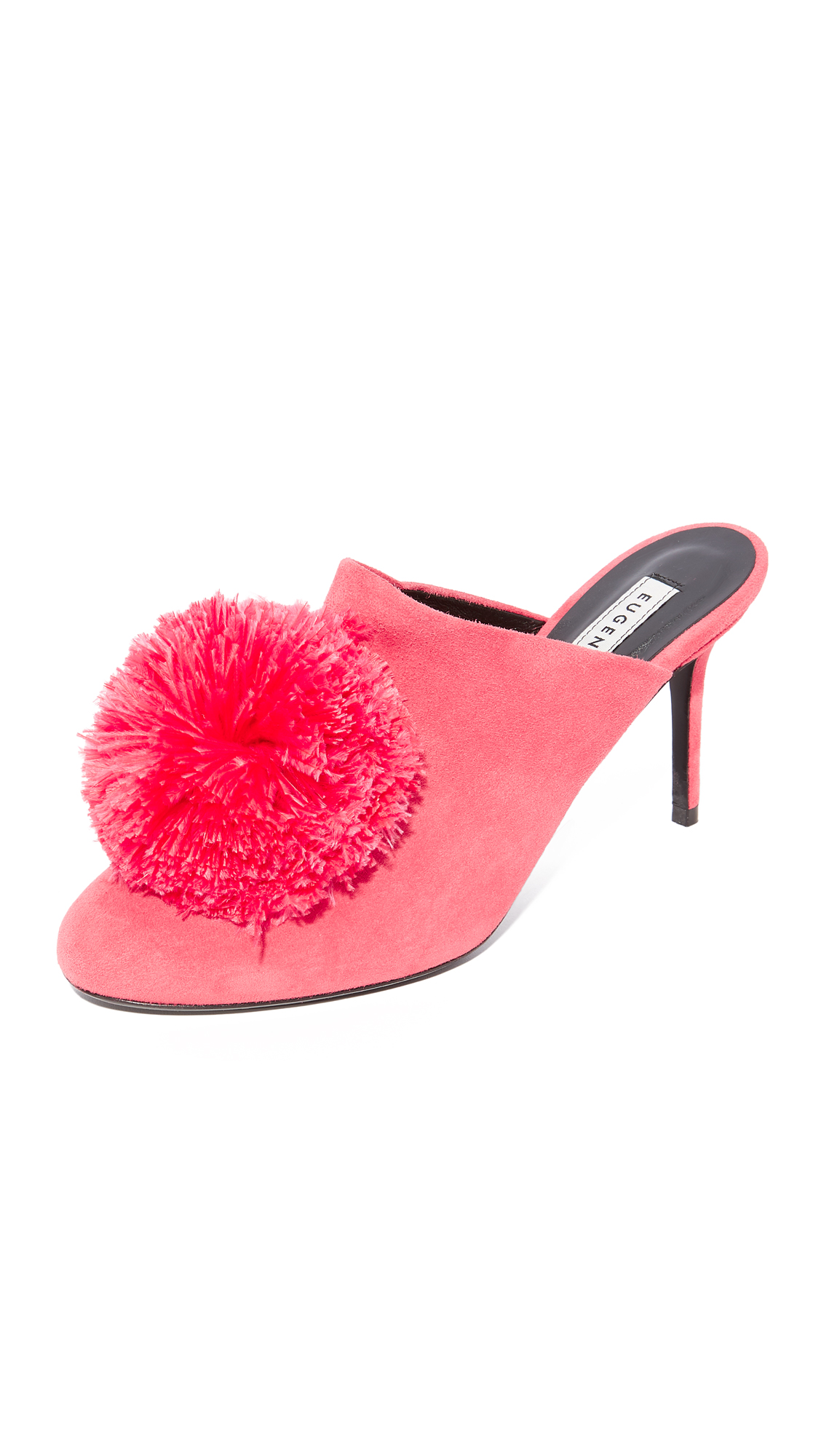 Eugenia Kim Violet Pom Pom Pumps - Shocking Pink