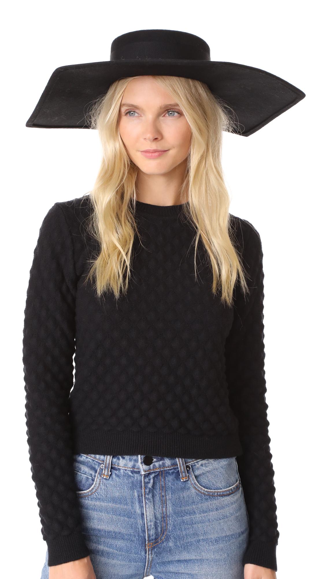 Eugenia Kim Atlas Hat - Black