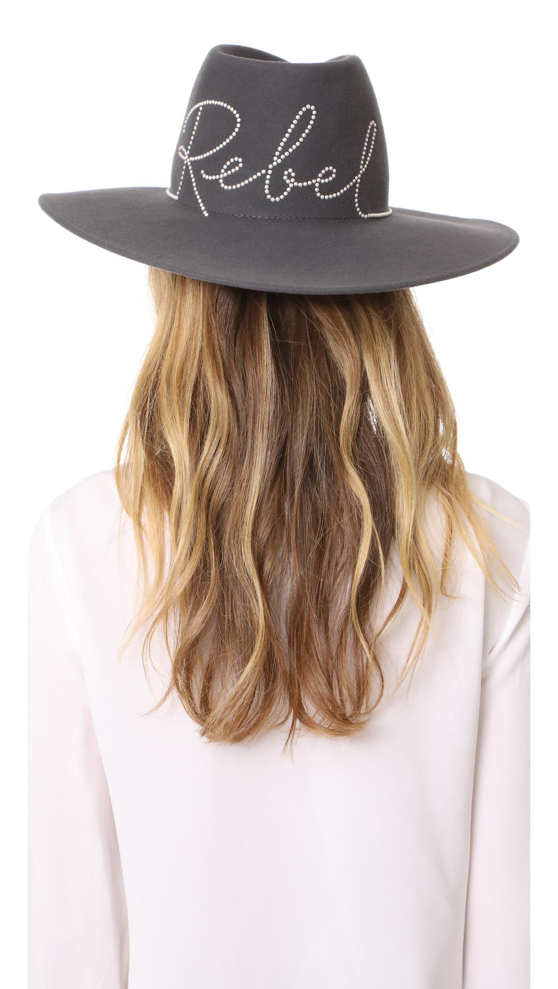Eugenia Kim Harlowe Rebel Hat - Grey