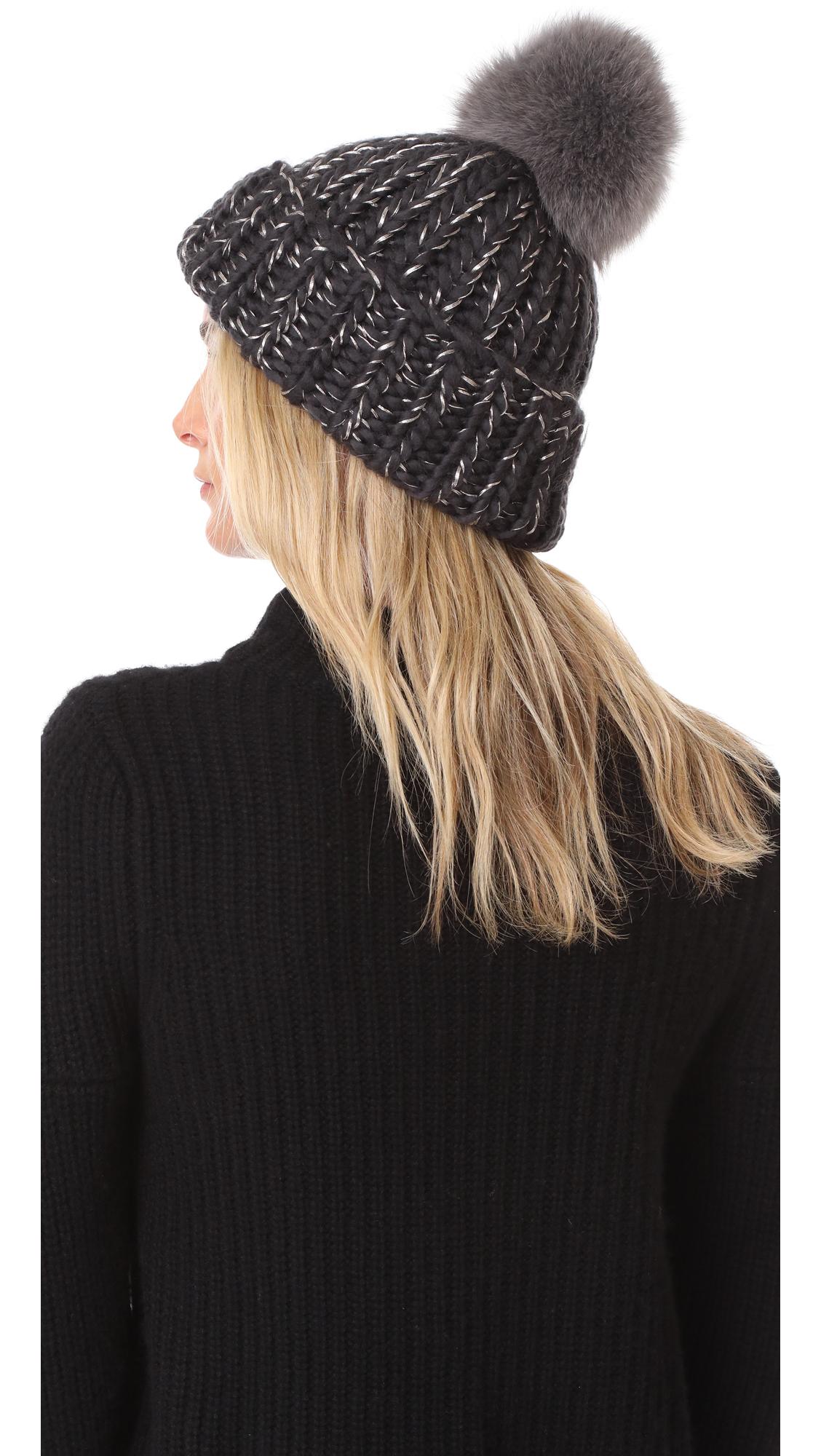 92476e6692194 Eugenia Kim Rain Pom Pom Beanie Hat