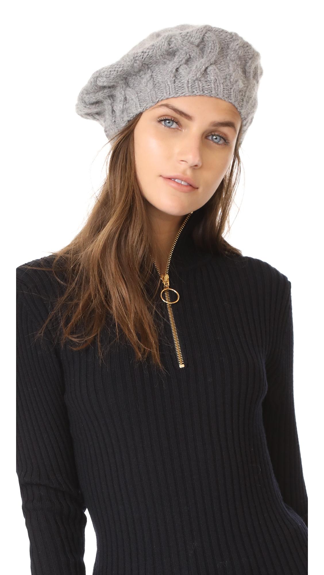 Eugenia Kim Jamie Beret Hat - Light Grey