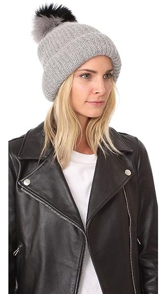Eugenia Kim Maddox Pom Pom Hat - Light Grey