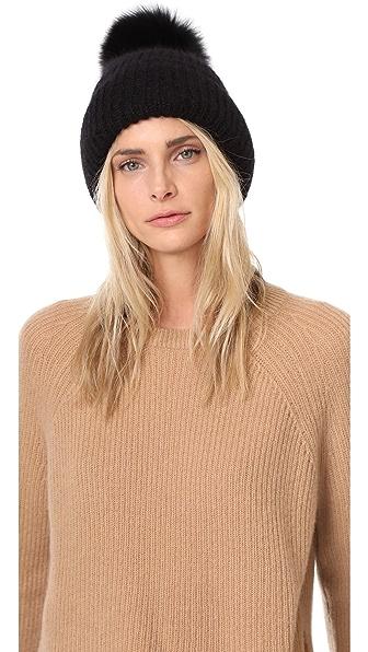Eugenia Kim Maddox Pom Pom Hat In Black