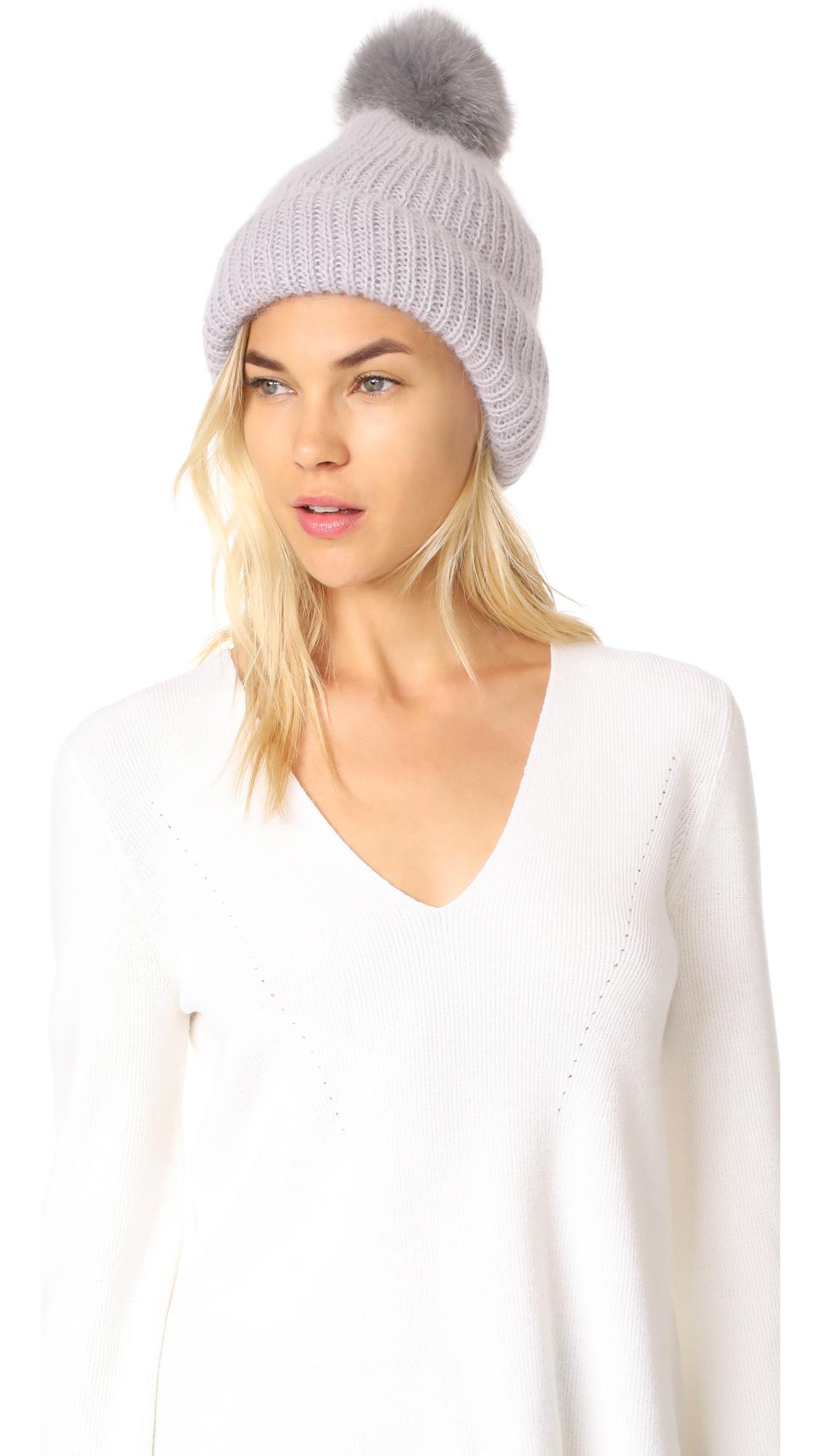 Eugenia Kim Maddox Pom Pom Hat - Lavender