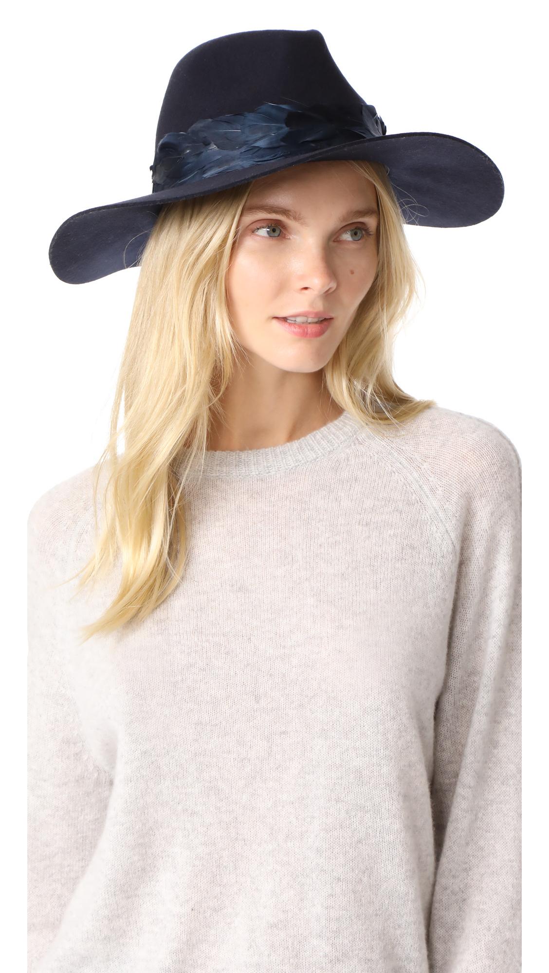 Eugenia Kim Genie Hudson Hat - Navy