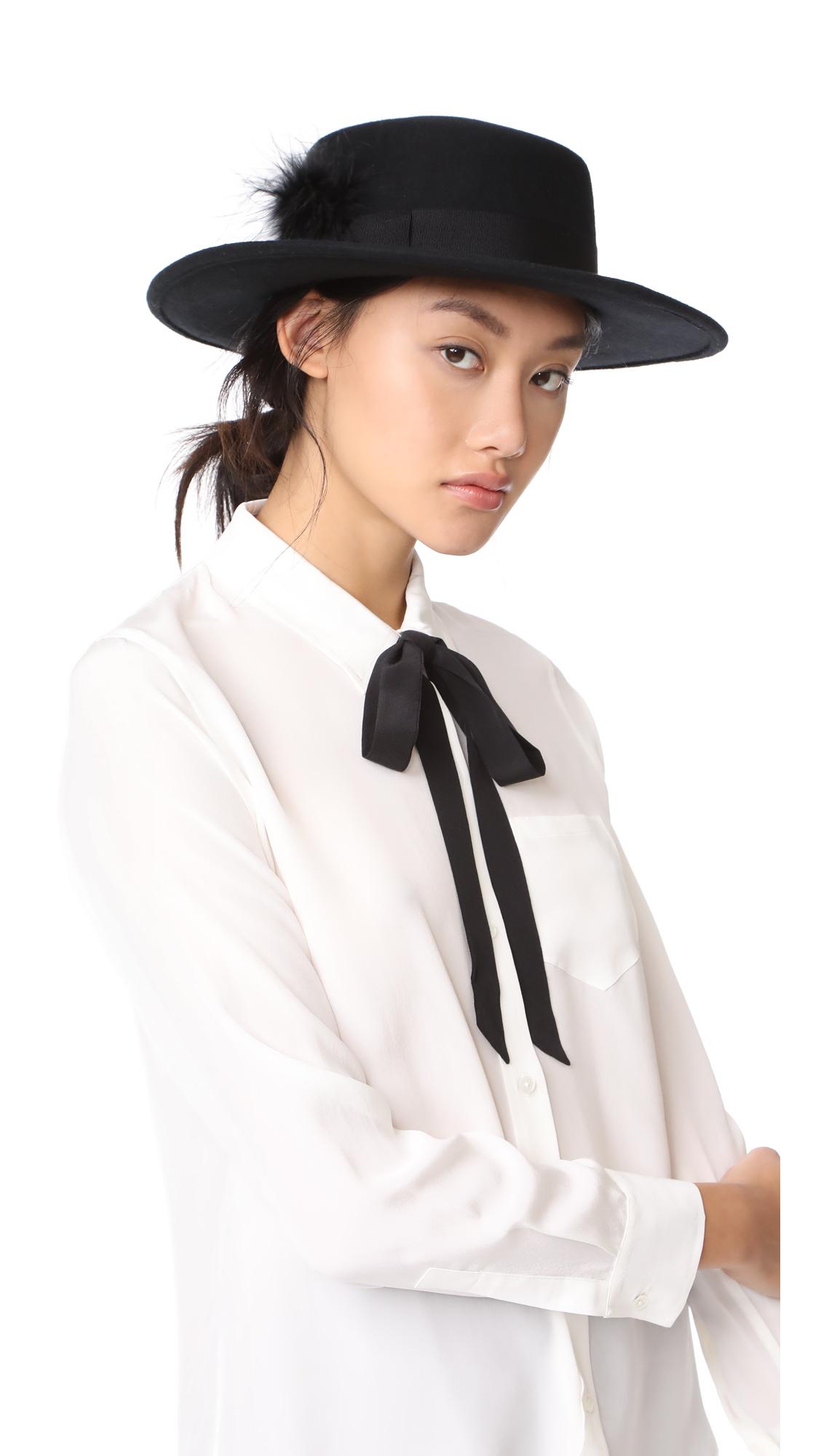 Eugenia Kim Genie Beverly Hat - Black
