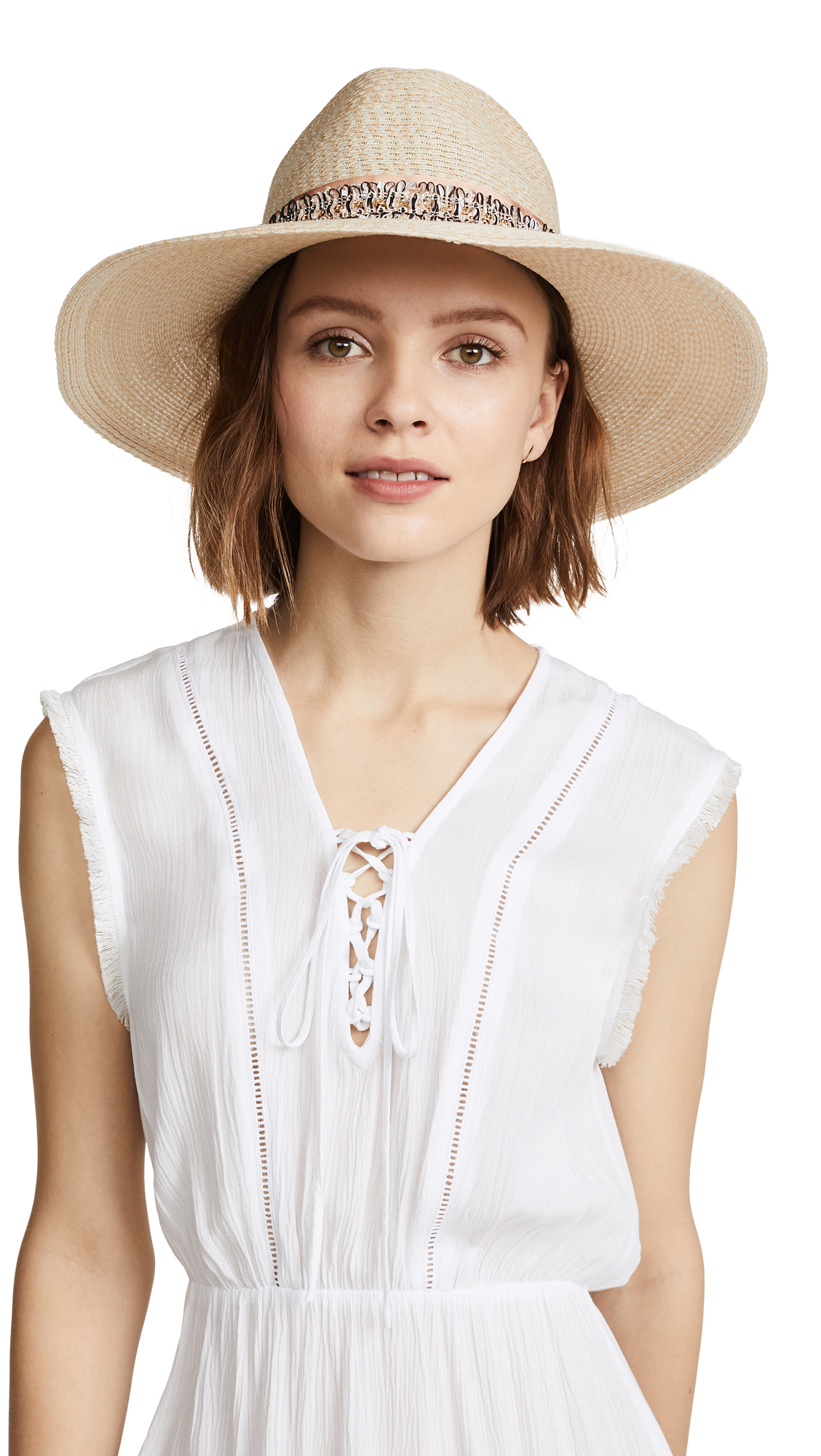 Eugenia Kim Emmanuelle Sun Hat with Band - Ivory