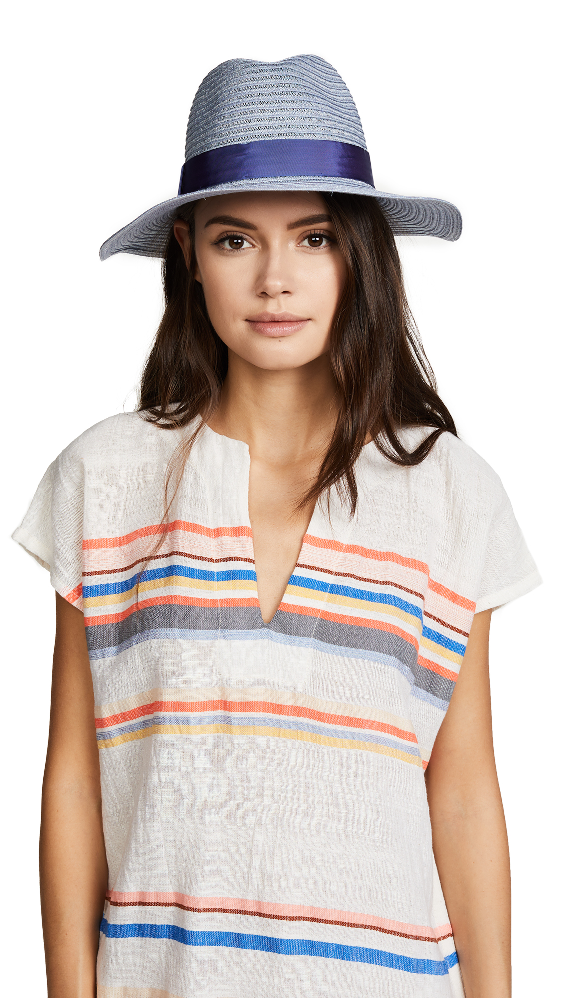 Eugenia Kim Courtney Packable Fedora Hat - Blue