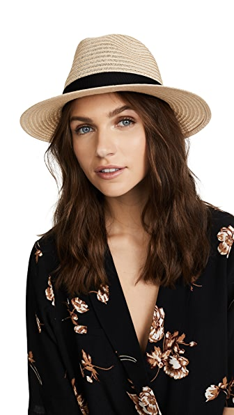 Eugenia Kim Lillian Packable Fedora - Natural/Black