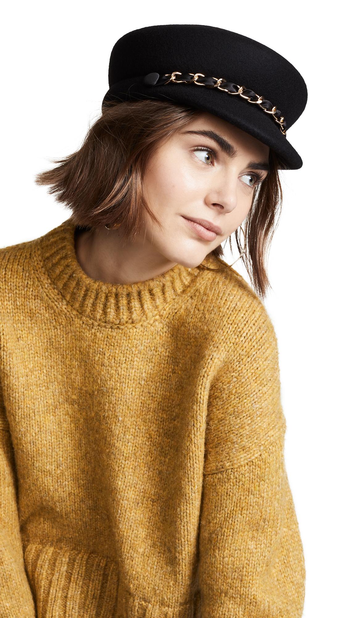 EUGENIA KIM Sabrina Black Cap