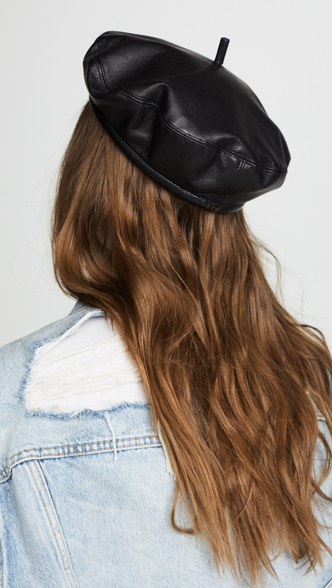 The Carter Leather Beret Eugenia Kim eg1rC