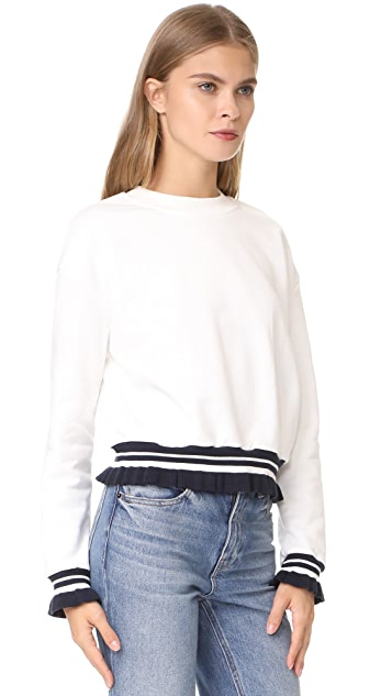EVIDNT Ruffle Trim Sweatshirt