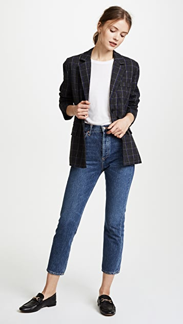 EVIDNT Plaid Blazer