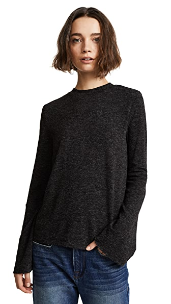 EVIDNT Flare Pullover In Charcoal