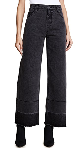 EVIDNT Wide Leg Jeans In Grey
