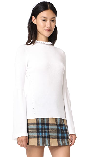 EVIDNT Knit Top with Bell Cuffs