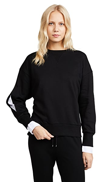 EVIDNT Back Tie Sweatshirt In Black