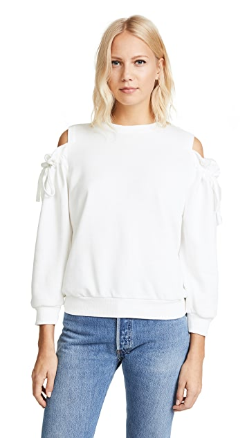 EVIDNT Cold Shoulder Sweatshirt