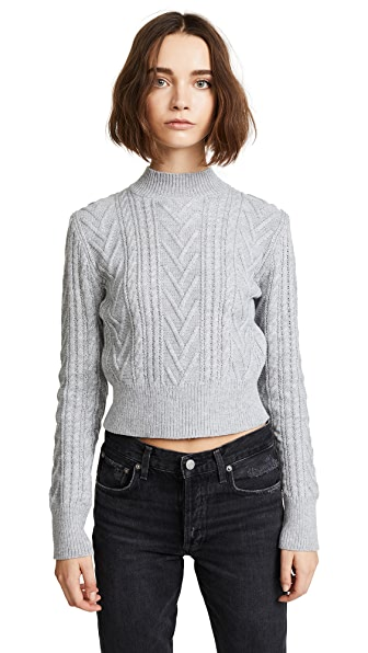 EVIDNT Cable Sweater In Grey