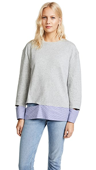 EVIDNT Disconnected Hem Sweatshirt In Grey