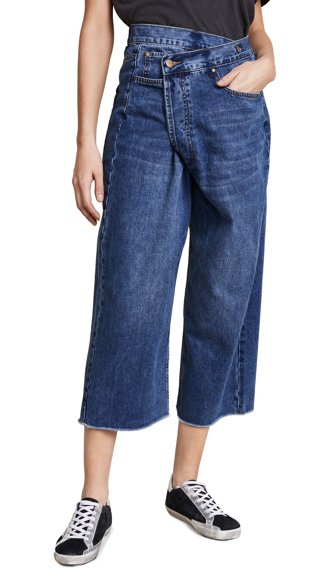 EVIDNT Nice Wide Leg Jeans In Hyperion