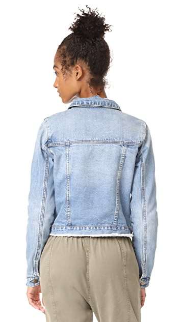 EVIDNT Frayed Denim Jacket