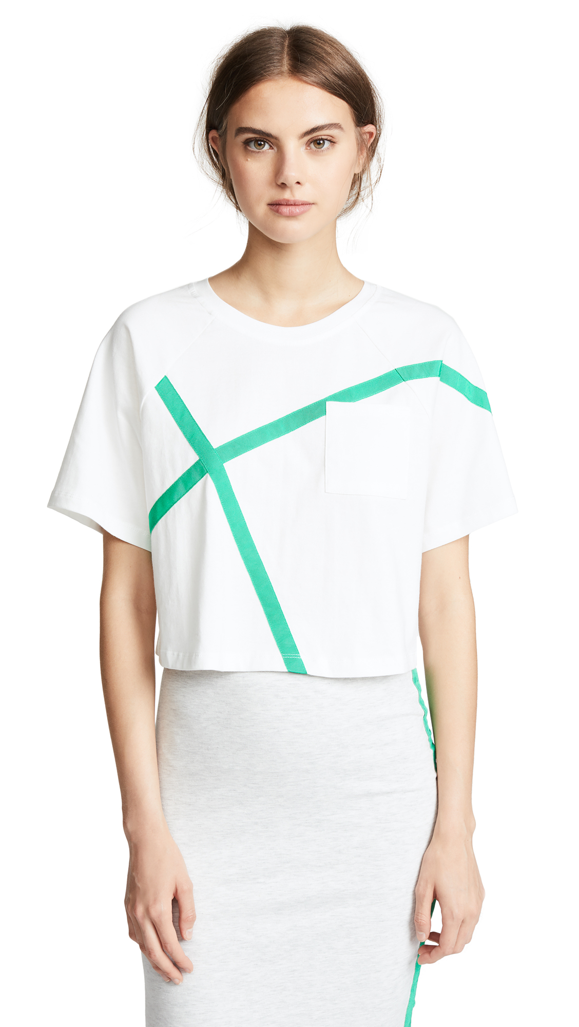 EVIDNT Boxy Tee In White