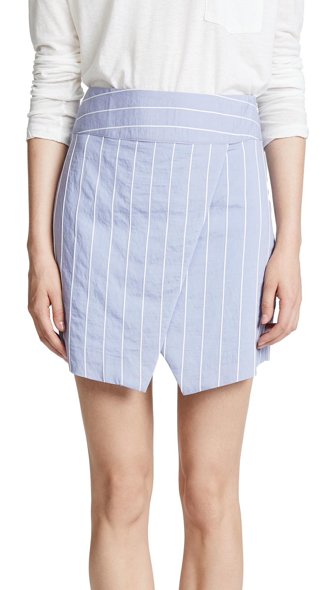 EVIDNT Asymmetrical Miniskirt In Sky Stripe