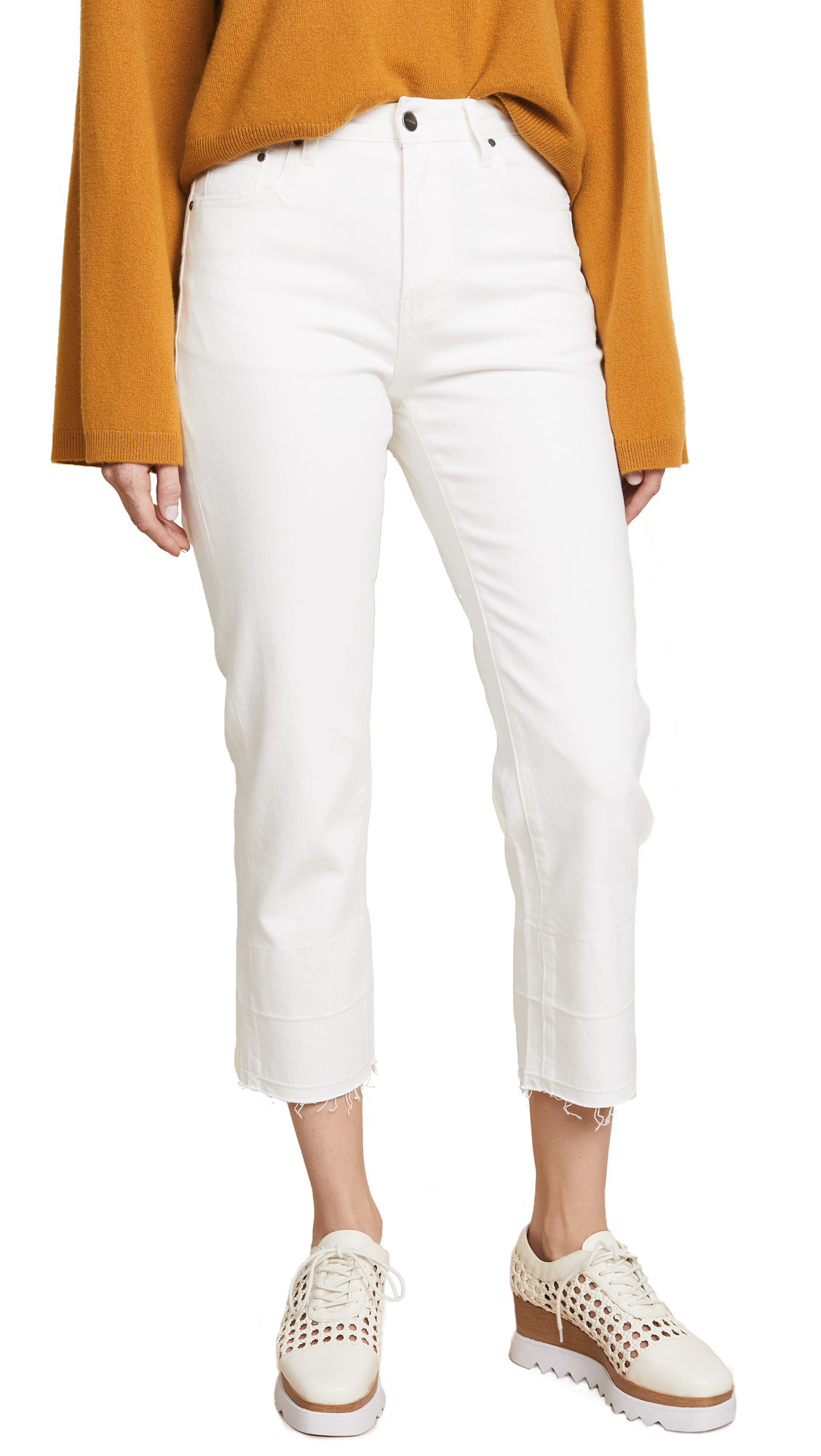 EVIDNT Essen Relaxed Wide Leg Pants In White