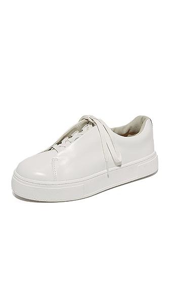 Eytys Doja Leather Sneakers In White