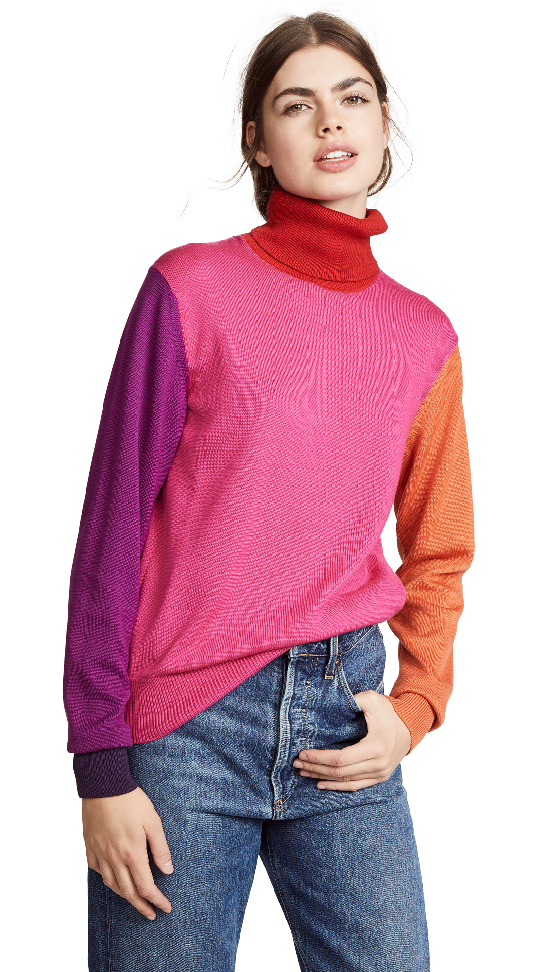 Facetasm COLORBLOCK TURTLENECK