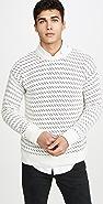 Far Afield Drop Shoulder Flek Knit Sweater
