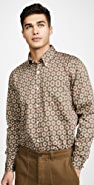Far Afield Mod Button Down Long Sleeve Shirt