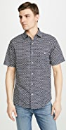 Faherty Short Sleeve Coast Shirt In Fishscale Batik